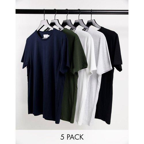 Lot de 5t-shirts classiques - Topman - Modalova