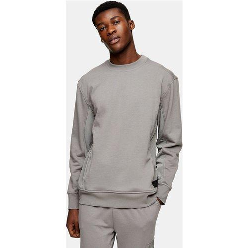 Ltd - Sweat-shirt à empiècement - anthracite - Topman - Modalova