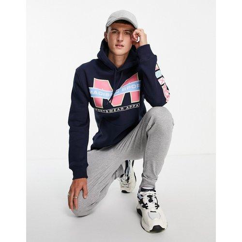 Madison - Hoodie à imprimé sportswear - Bleu - Topman - Modalova