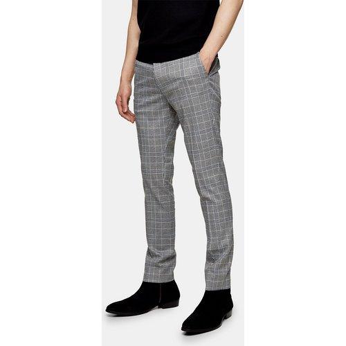 Pantalon à carreaux skinny - Topman - Modalova