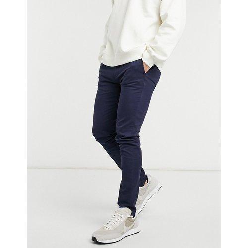 Pantalon chino ajusté en coton biologique mélangé - marine - Topman - Modalova