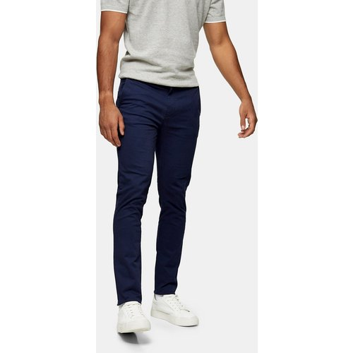 Pantalon chino coupe skinny stratch - Marine - Topman - Modalova