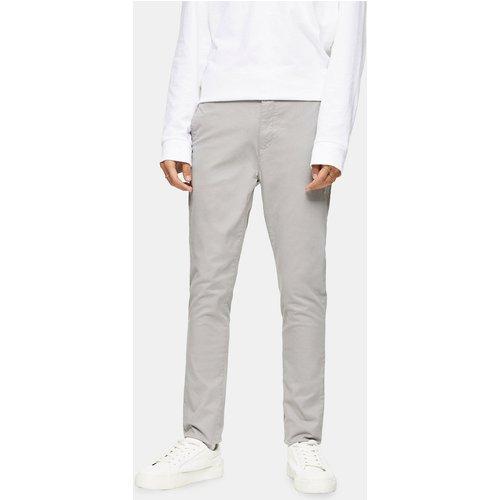 Pantalon chino skinny stretch - clair - Topman - Modalova