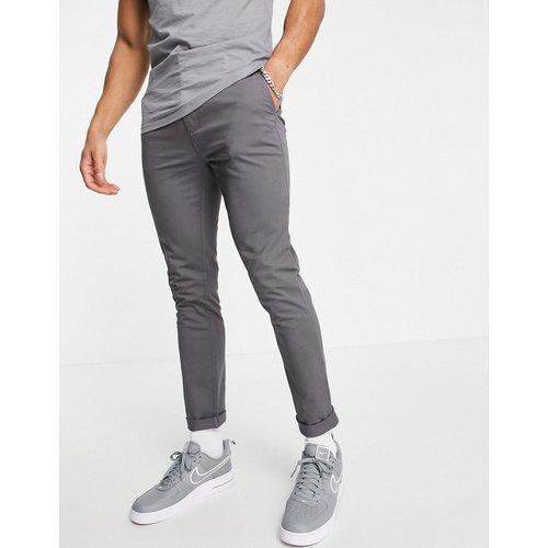 Pantalon chino stretch coupe skinny en tissu biologique mélangé - Anthracite - Topman - Modalova