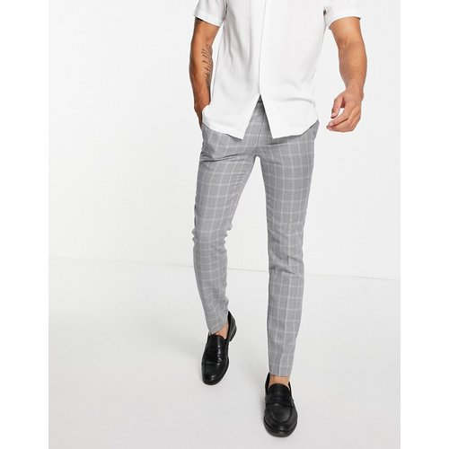 Pantalon de costume coupe skinny à carreaux - Topman - Modalova