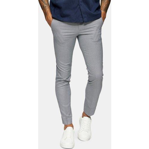 Pantalon de costume skinny à motif pied-de-poule - Topman - Modalova