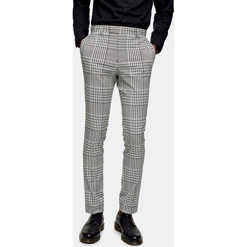 Pantalon de costume super skinny à carreaux - Topman - Modalova