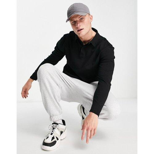Polo à manches longues en jersey - Topman - Modalova
