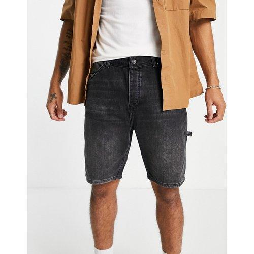 Short en jean coupe charpentier - délavé - Topman - Modalova