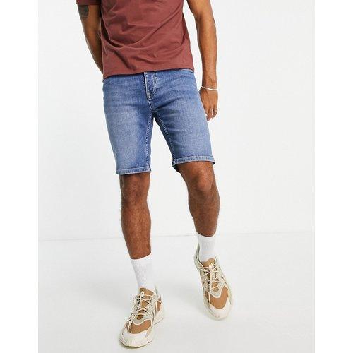 Short en jean skinny stretch - Délavage moyen - Topman - Modalova