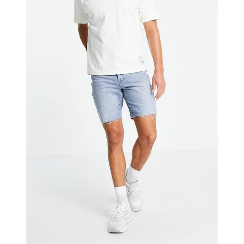 Short en jean slim - Délavage moyen - Topman - Modalova