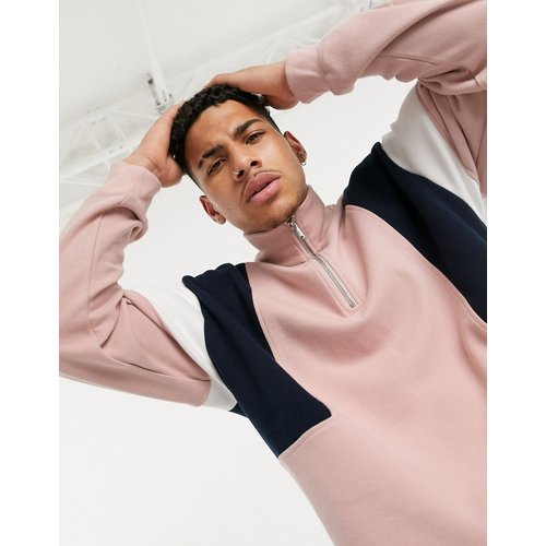 Sweat-shirt avec col zippé - Topman - Modalova