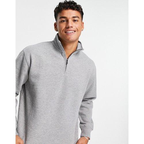 Sweat-shirt d'ensemble à demi-fermeture éclair - chiné - Topman - Modalova