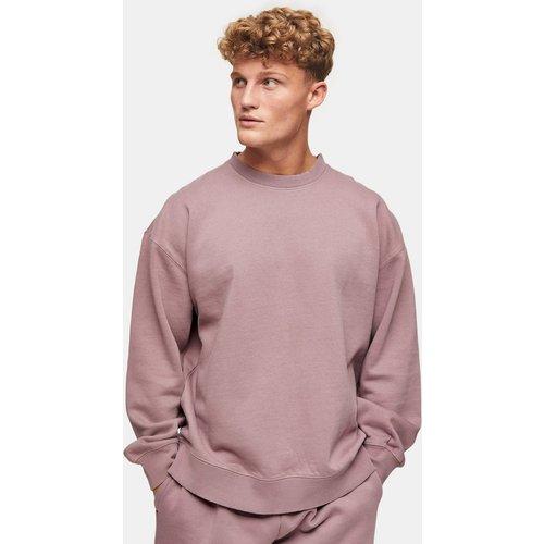 Sweat-shirt oversize délavé d'ensemble - Lilas - Topman - Modalova