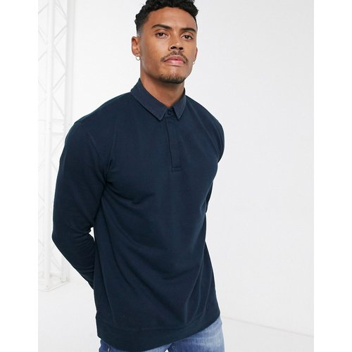 Sweat-shirt style rugby - Bleu - Topman - Modalova