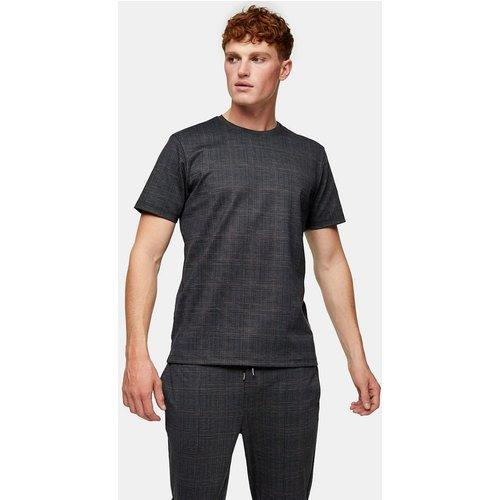 Topman - T-shirt à carreaux - Noir - Topman - Modalova