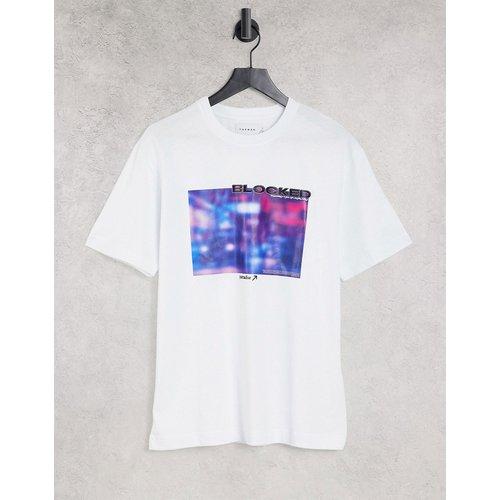 T-shirt à imprimé effet color block - Topman - Modalova