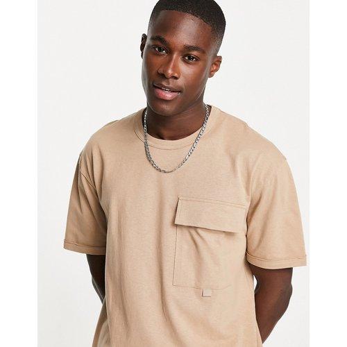 T-shirt fonctionnel oversize avec poche - Topman - Modalova