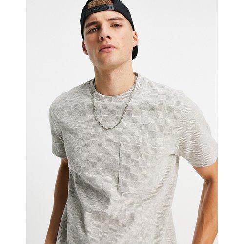 T-shirt oversize à carreaux - Crème - Topman - Modalova