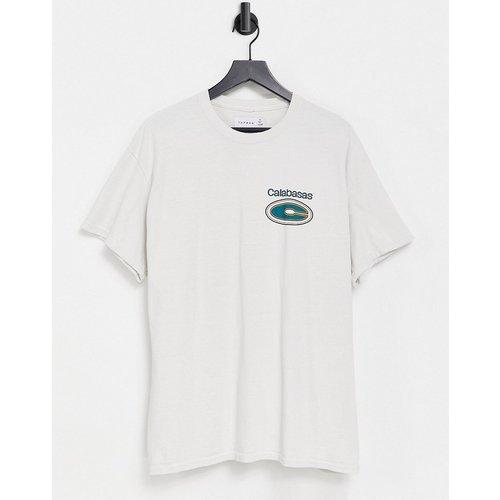 T-shirt oversize à imprimé Calabasas - Écru - Topman - Modalova