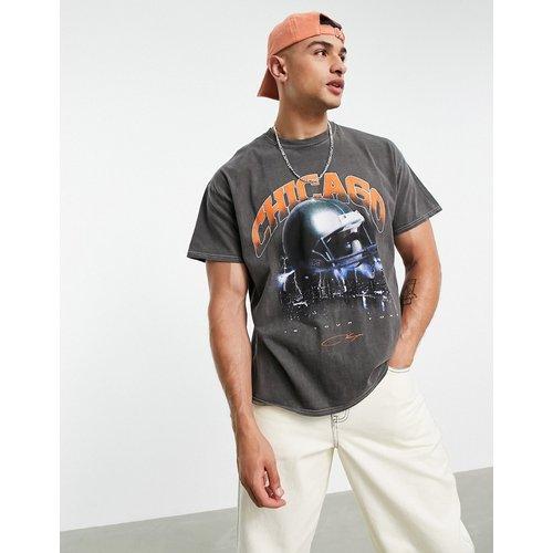 T-shirt oversize à imprimé Chicago - délavé - Topman - Modalova