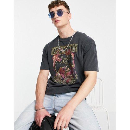 T-shirt oversize à imprimé Led Zeppelin - délavé - Topman - Modalova
