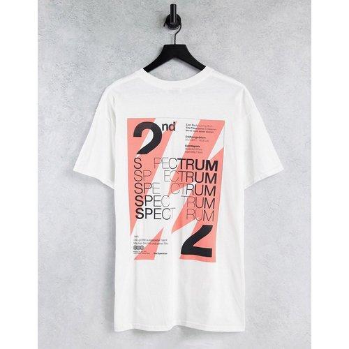 T-shirt oversize à imprimé Spectrum sur le devant et au dos - Topman - Modalova