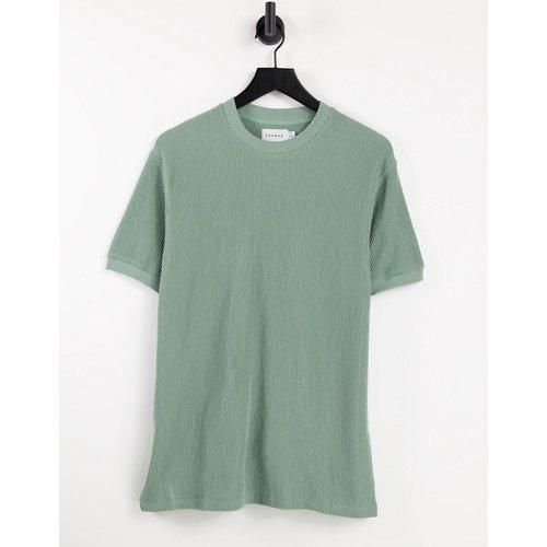 T-shirt oversize à rayures en velours côtelé - clair - Topman - Modalova