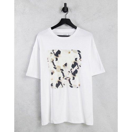 T-shirt oversize avec imprimé encadré sublimé - Topman - Modalova