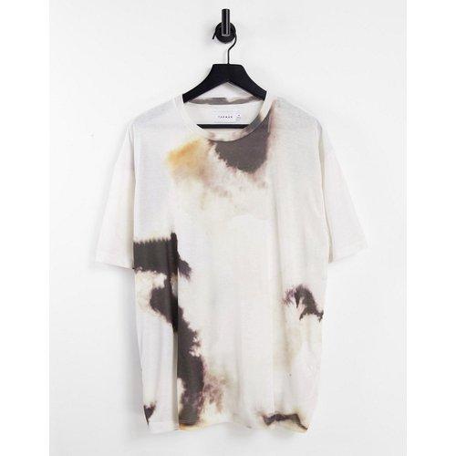 T-shirt oversize avec imprimé tie-dye saturé - Topman - Modalova