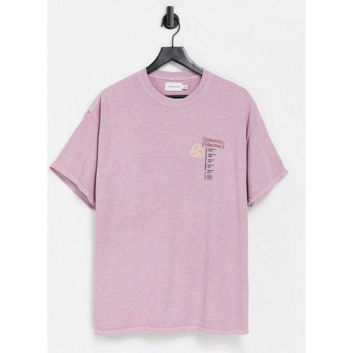 T-shirt oversize avec imprimé Uniform Collective sur le devant - Topman - Modalova