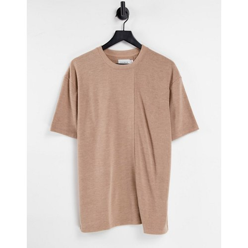 T-shirt oversize en maille - Camel - Topman - Modalova