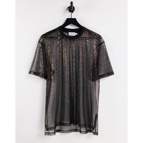 T-shirt oversize en tulle à imprimé animal - Topman - Modalova