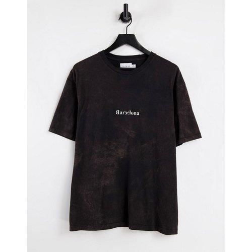 T-shirt oversize imprimé Barcelona sur la poitrine - Topman - Modalova