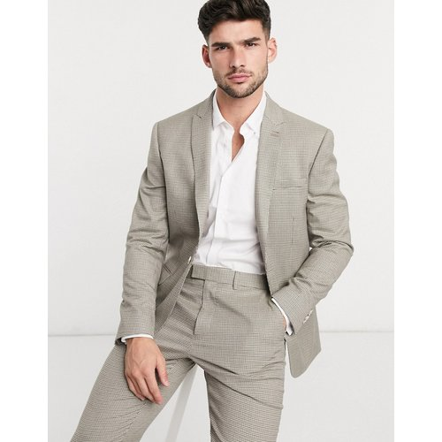 Veste de costume ajustée à boutonnage simple - Beige - Topman - Modalova