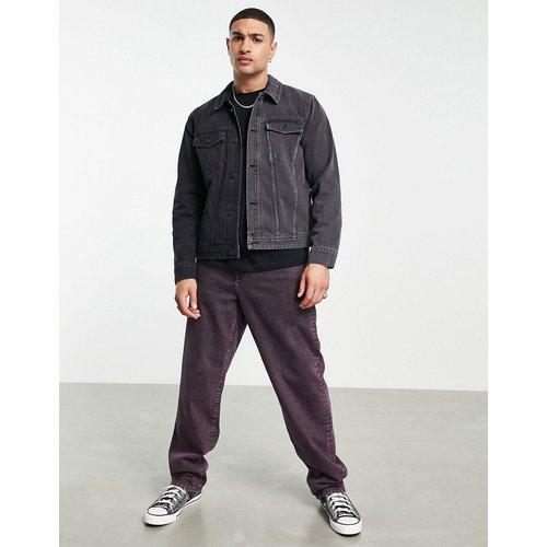 Veste en jean en deux parties - et noir délavé - Topman - Modalova