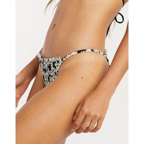 Bas de bikini échancré à œillets - Topshop - Modalova