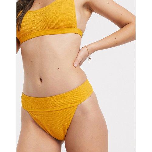 Bas de bikini taille haute texturé - Topshop - Modalova