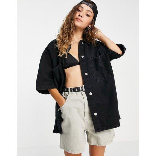 Chemise en jean légère d'ensemble - Noir délavé - Topshop - Modalova