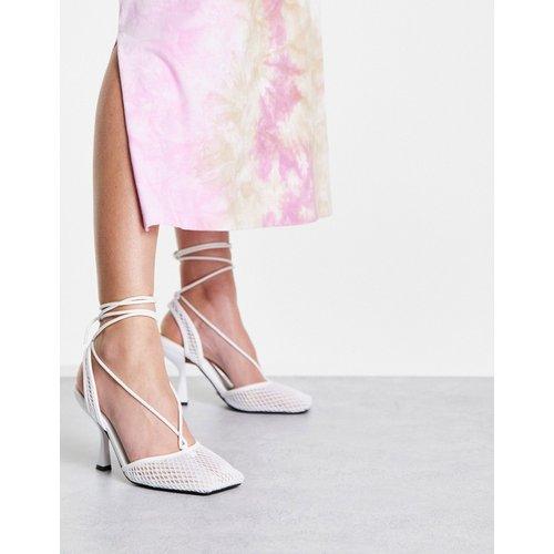 Flash - Chaussures à talon en résille avec bride arrière - Topshop - Modalova