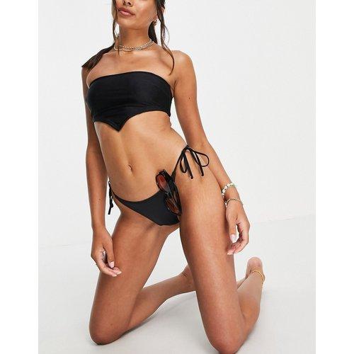 Haut de bikini court brillant à ourlet en pointe - Topshop - Modalova