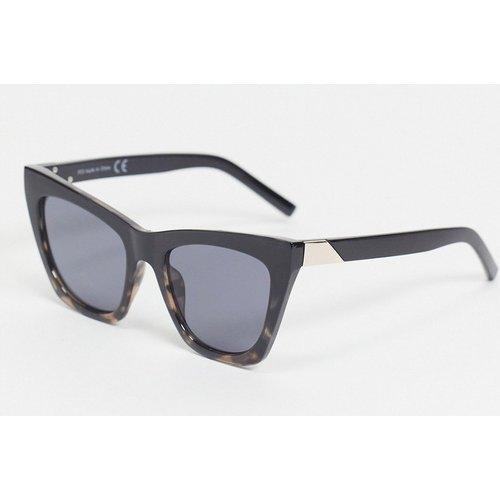 Lunettes de soleil oversize yeux de chat à verres noirs - Noir - Topshop - Modalova