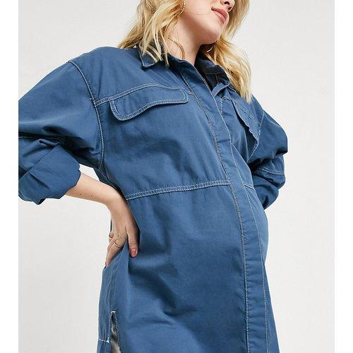 Chemise en jean oversize - Bleu - Topshop Maternity - Modalova
