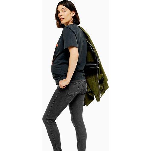 Jamie - Jean skinny avec bande recouvrant le ventre - délavé - Topshop Maternity - Modalova