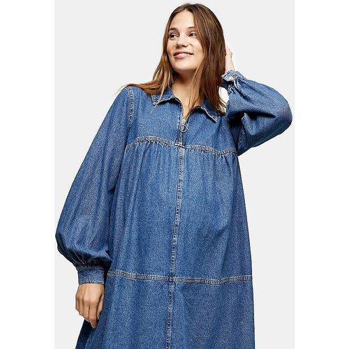 Robe babydoll en jean - Topshop Maternity - Modalova