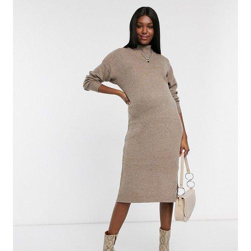 Robe mi-longue col montant en maille - Topshop Maternity - Modalova
