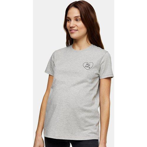 T-shirt à imprimé «Hey Baby» - Topshop Maternity - Modalova
