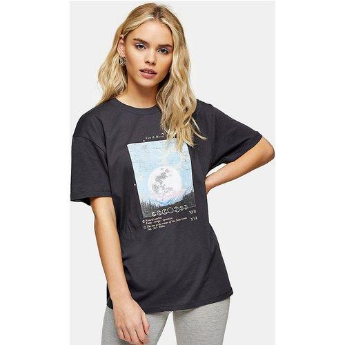 T-shirt à motif lune - Noir - Topshop Petite - Modalova