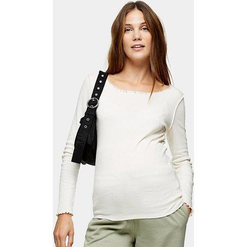 T-shirt manches longues à ourlet ondulé - Topshop Maternity - Modalova