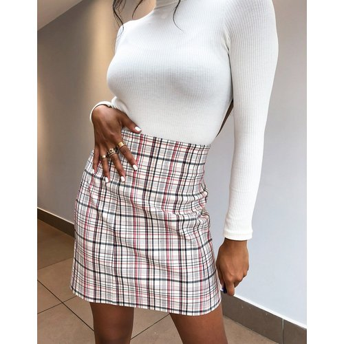 - Mini-jupe à carreaux - Rouge - Topshop - Modalova